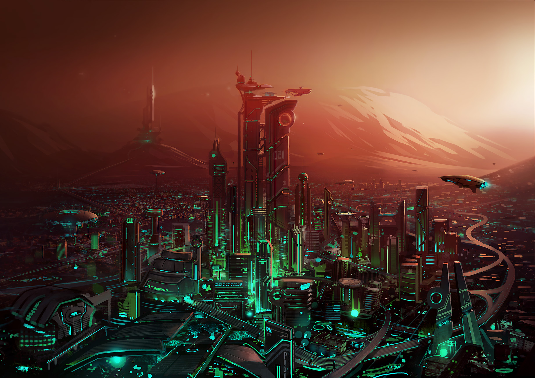 cities on mars - HD1842×1302
