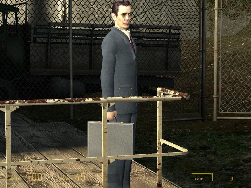 G-man и чумадан - Half-Life 2