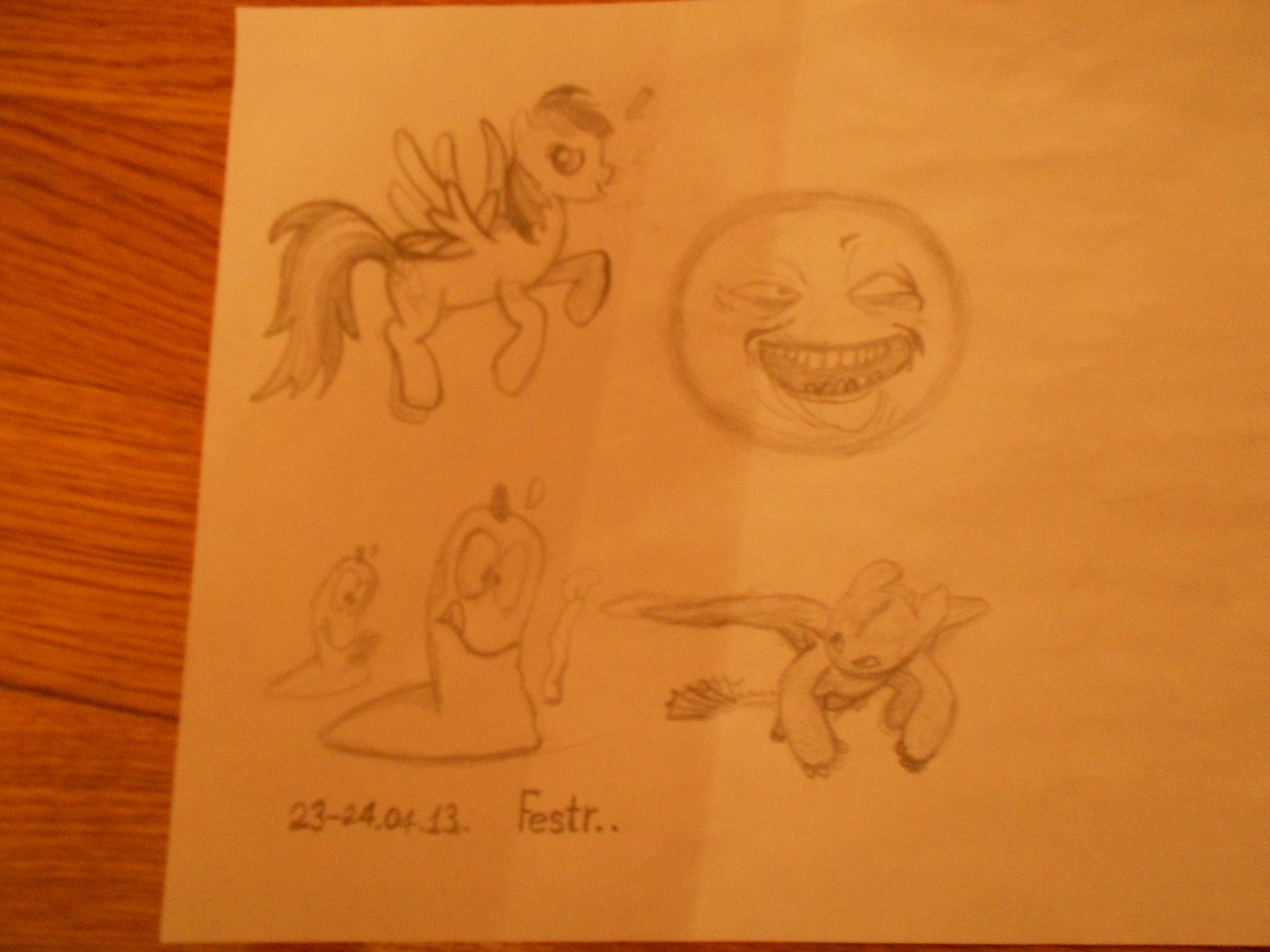 Мой первый рисунок пони... (и не только) - -