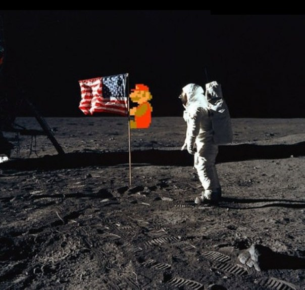 Mario in Space - -
