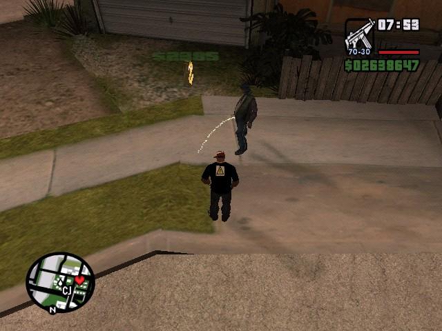 бичара писает - Grand Theft Auto: San Andreas