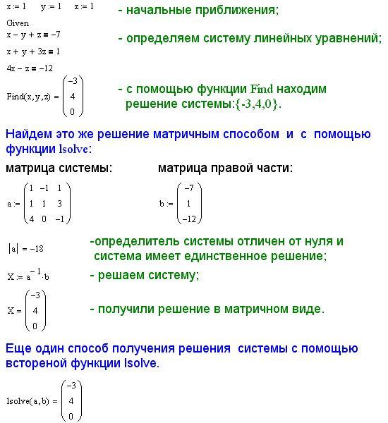 решение квадратного уравнения в маткаде - 6