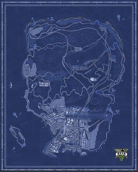 карта - Grand Theft Auto 5