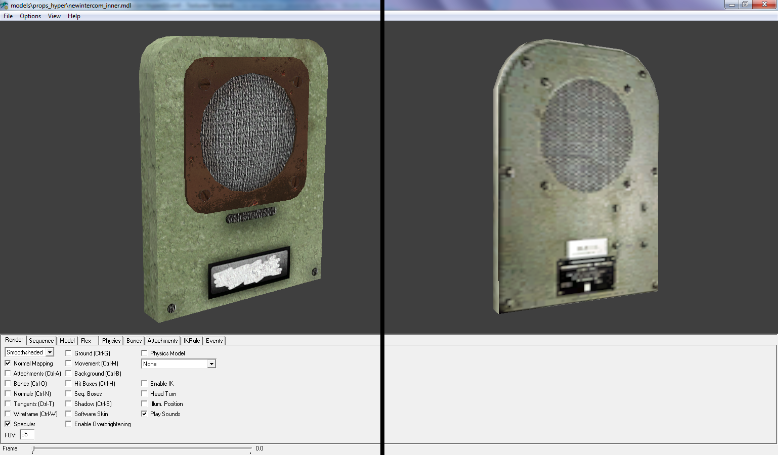 Технологический прогресс дает о себе знать, и самая важная деталь корабля наконец приведена в божеский вид (сетка динамика, бронзовая пластинка и винтики не фальшивые). - Half-Life 2