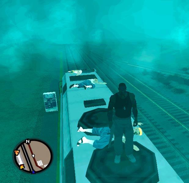 глюк - Grand Theft Auto: San Andreas
