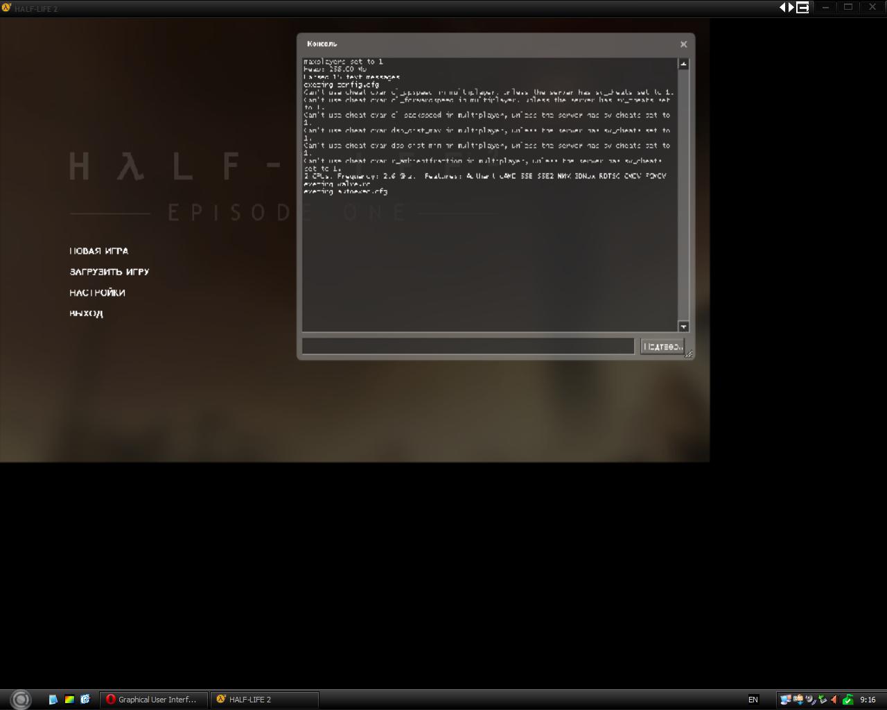 Развернуть на весь экран не получилось - Half-Life 2