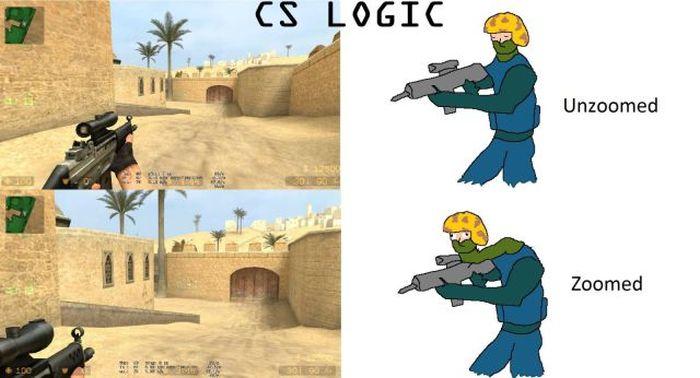 Логика в КС - - Source, Логика