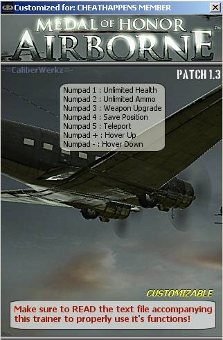 Скачать трейнер для medal of honor airborne