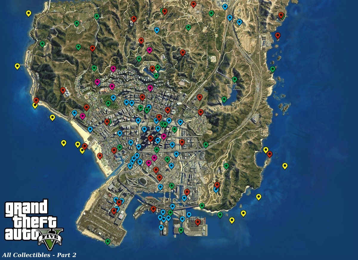 GTA V - map 2 - Grand Theft Auto 5