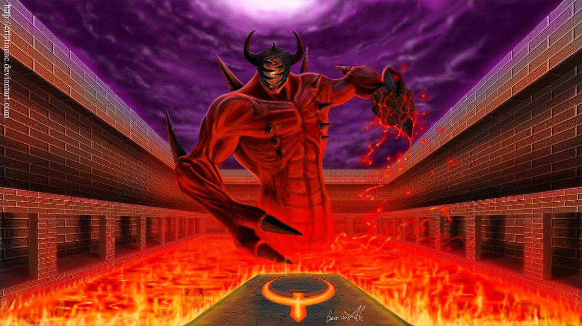 Скриншоты и рисунки относящиеся ко вселенным DooM и Quake. - Quake