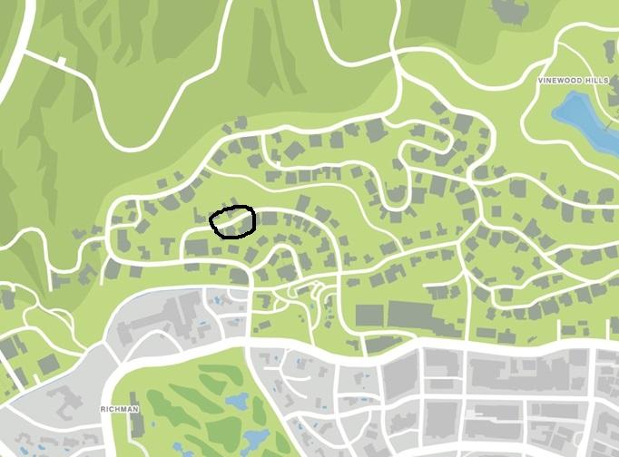 Место случайной миссии в которой можно достать Daemon`a - Grand Theft Auto 5