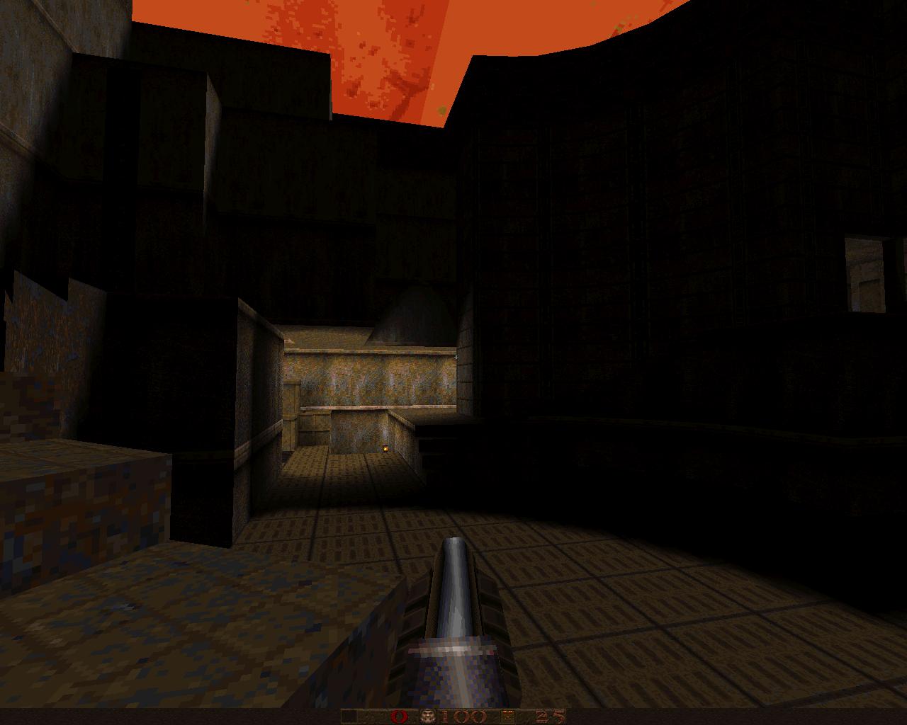 q2dm1 перекомпиленная для Q1 - Quake