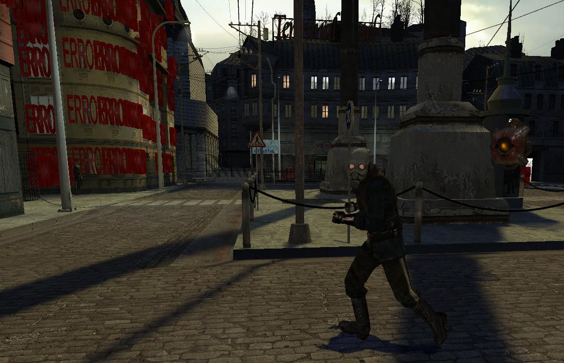 Альянс пропагандирует спорт среди младшего офицерского состава [APNG] - Half-Life 2 Animated PNG, APNG, e3_terminal, Half-Life 2 Beta, HL2Beta, Альянс, ГО, ЕГГОГ