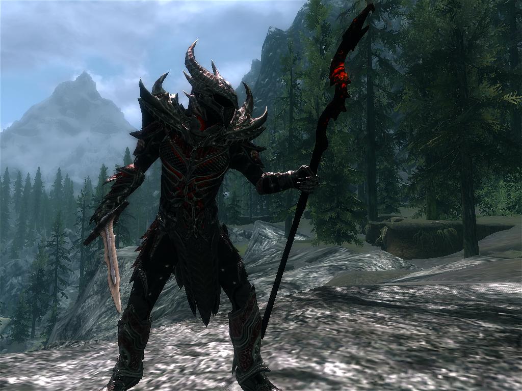Скрины перса - Elder Scrolls 5: Skyrim, the даэдрический воин-маг