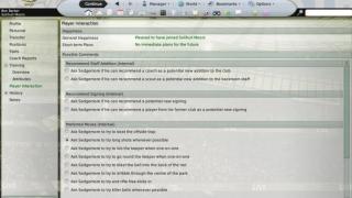 Скриншоты  игры Football Manager 2009