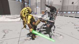 Скриншоты  игры Kinect Star Wars