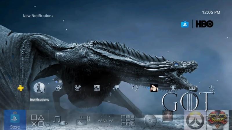 Динамическая тема для PS4 в честь начала финального сезона