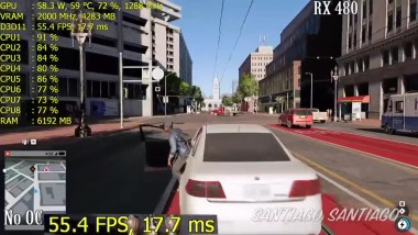 Watch Dogs 2 - Ryzen 5 1400 + RX 480 and GTX 1060