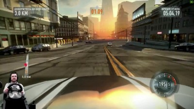 Гоночки с экшоном Need for Speed: The Run на руле Fanatec Porsche 911 GT2