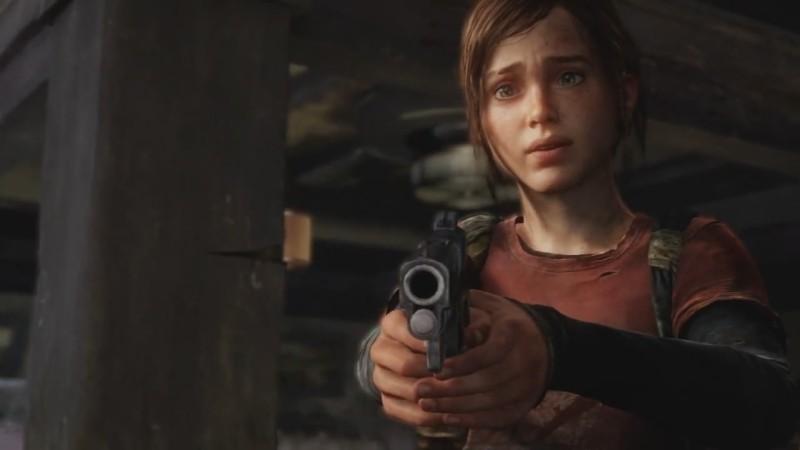 На следующих кадрах уже Элли целится в экран из пистолета – смонтировано так, будто она целится в Джоэла.