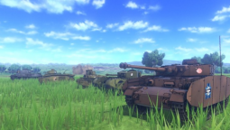 "Новые снимки экрана и подробности режима ""Пост-мортем"" в Girls und Panzer: Dream Tank Match"