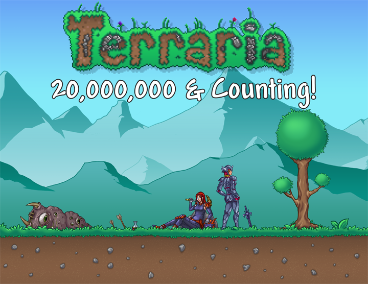С2011 года реализовано неменее 20 млн копий Terraria