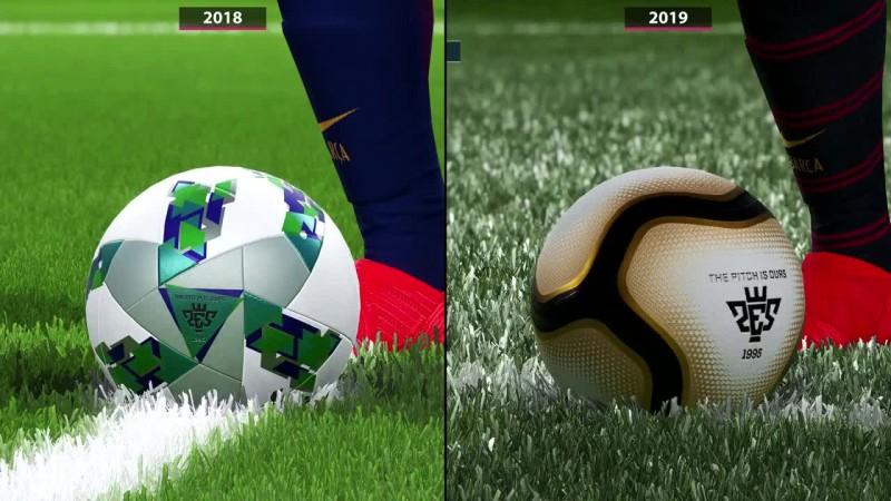 Сравнение PES 2018 vs  PES 2019 на PC 4K