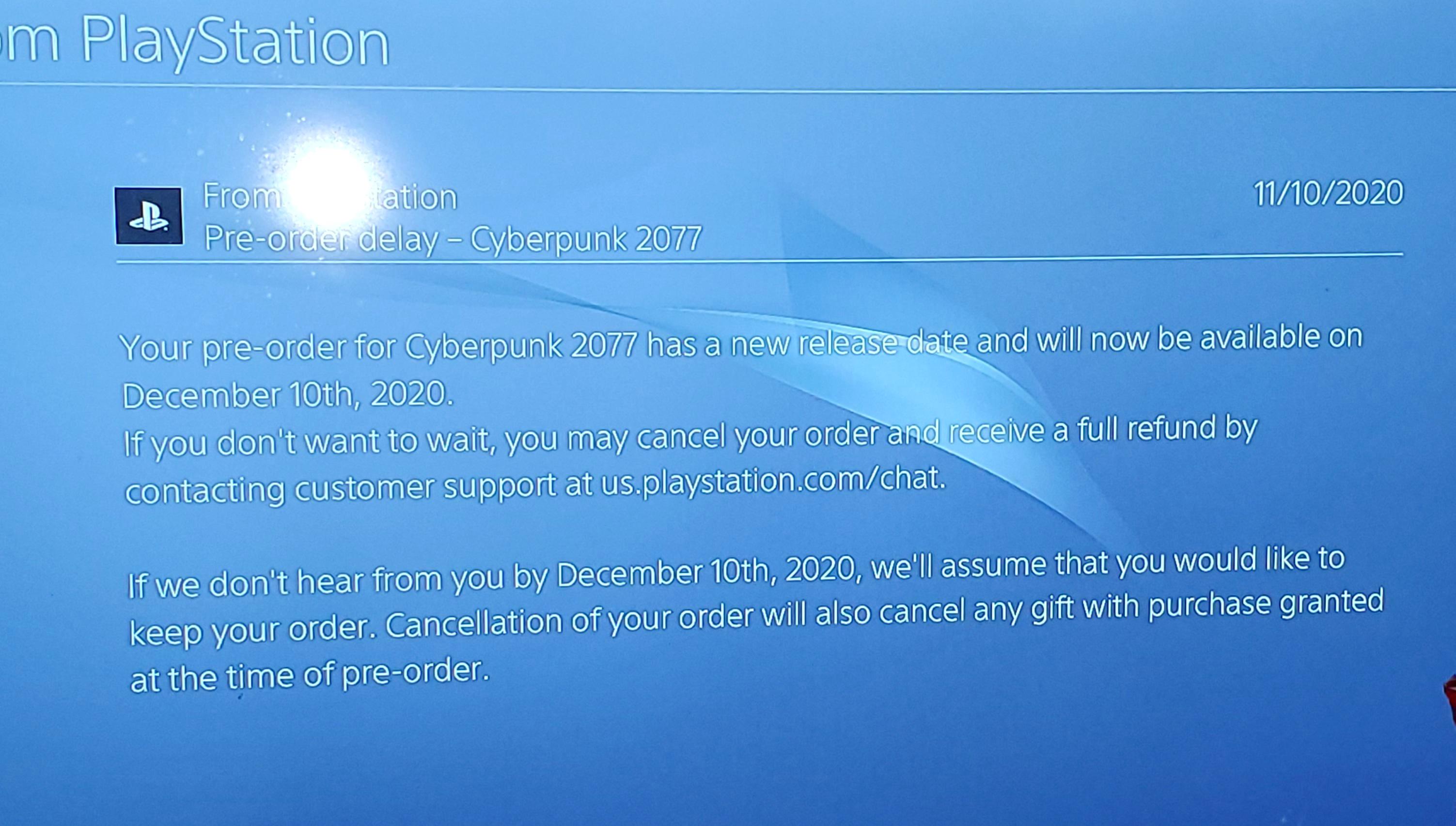 Sony предложила отменить предзаказ Cyberpunk 2077