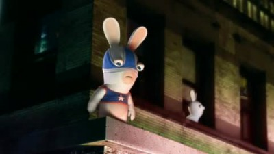 "Raving Rabbids: Alive and Kicking ""Капитан америка"""