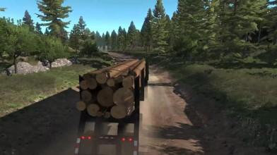 Геймплейное видео, демонстрирующее расширение Oregon в American Truck Simulator.