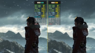 Сравнение - Rise of the Tomb Raider GTX 1050 Ti 4GB vs. GTX 1060 3GB