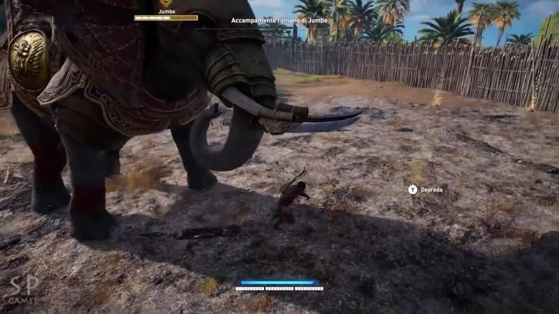 Assassin's Creed: Origins - Схватка со слоном голыми руками