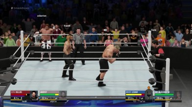 "WWE 2K16 ""Online Tag Team Fight - Brock Lesnar & Mr. McMahon VS Seth Rollins and Murphy"""