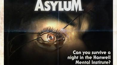 """Постеры """"Asylum"""" в стиле плакатов фильмов ужасов 80-х годов."""