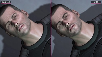 Mass Effect 2 - Vanilla vs. ALOT Texture Mod Pack - Сравнение графики