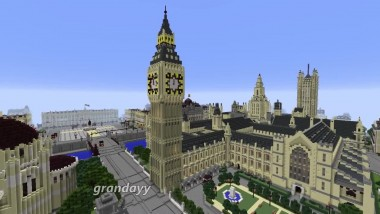 "Minecraft ""Big Ben plays its note blocks nicely for the last time"""