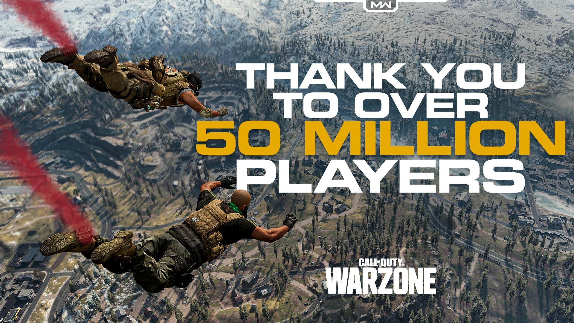Call of Duty: Warzone преодолела отметку в 50 миллионов игроков