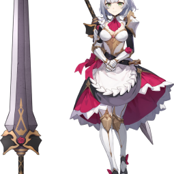 Герои Genshin Impact в виде оружия - художник поместил персонажей на лезвия