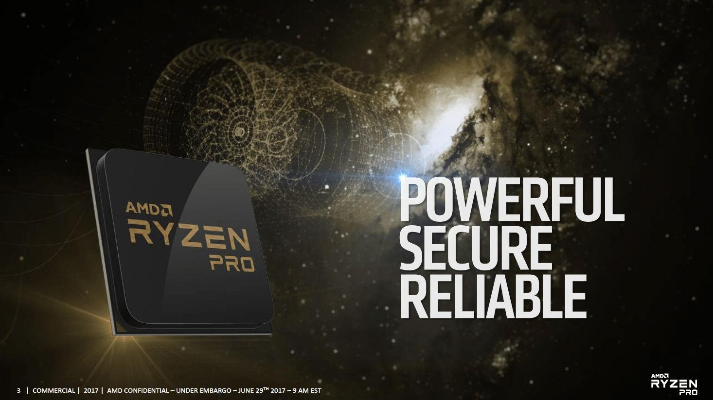 Официальный анонс процессоров бизнес-класса AMD Ryzen PRO
