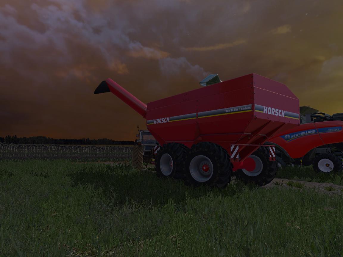 Прицеп с винтовым конвейером farming simulator транспортер т4 передний бампер на