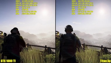 Ghost Recon Wildlands Titan Xp Vs GTX 1080 TI Частота кадров
