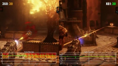 Gears of War Judgement Xbox 360 vs Xbox One Backwards Compatibility Frame Rate Test