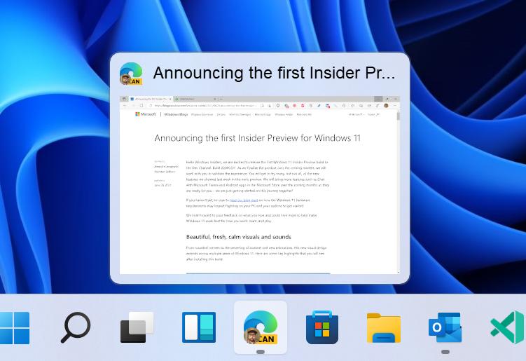 Microsoft выпустила новую предварительную сборку Windows 11
