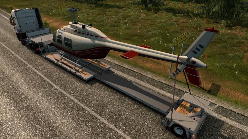 Скачать евро трек симулятор 2 где есть груз вертолетом