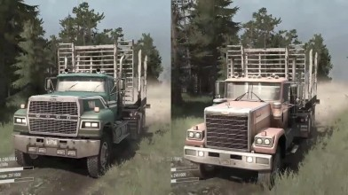 Spintires: MudRunner - Ford LTL-9000 vs Chevy Bison