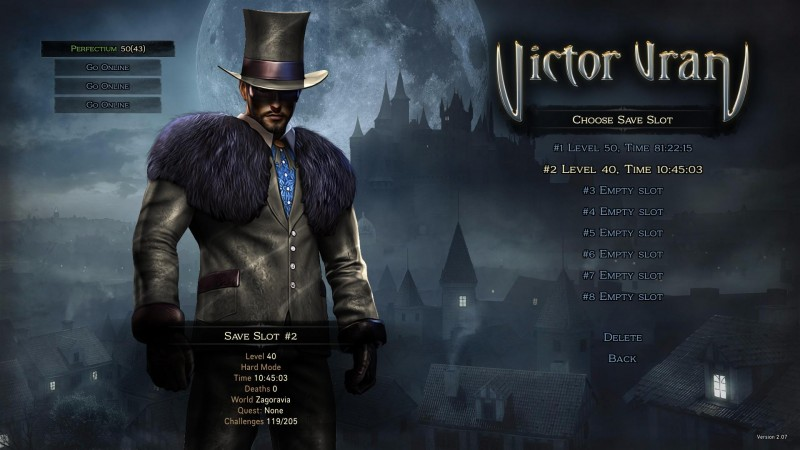 VIctor Vran: Save Game / Save Games (Campaign 100%, medium and hard)