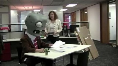 "Plants vs. Zombies  ""Zombie Temp Worker Viral"""