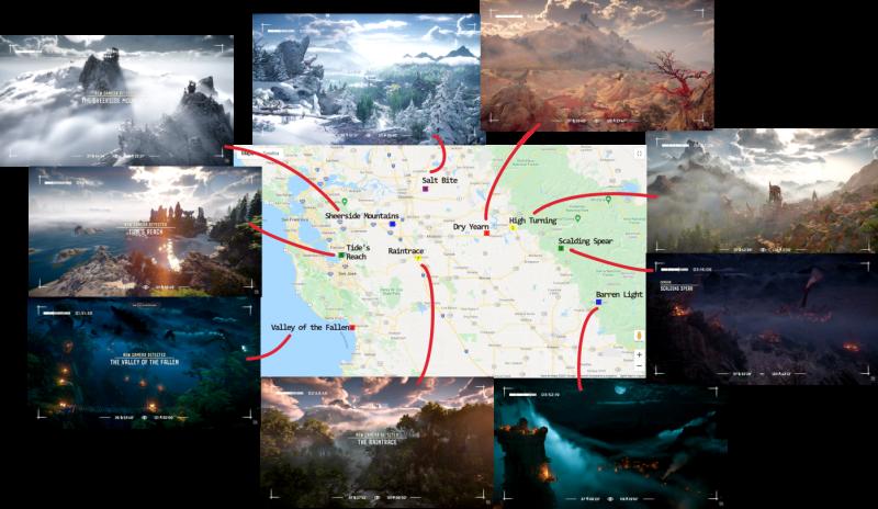 Карта Horizon FW может оказаться очень большой, поскольку на ней есть места в 300 км друг от друга