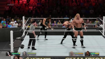 WCW Retro Awesome Match - Macho man RANDY SAVAGE AND SID Vicious VS STING AND BIG SEXY KEVIN NASH (wwe 2k15)