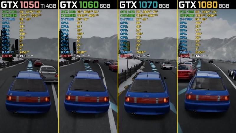 Тест видеокарт в 5 играх - GTX 1050 Ti vs. GTX 1060 vs. GTX 1070 vs. GTX 1080 (wolfgang)